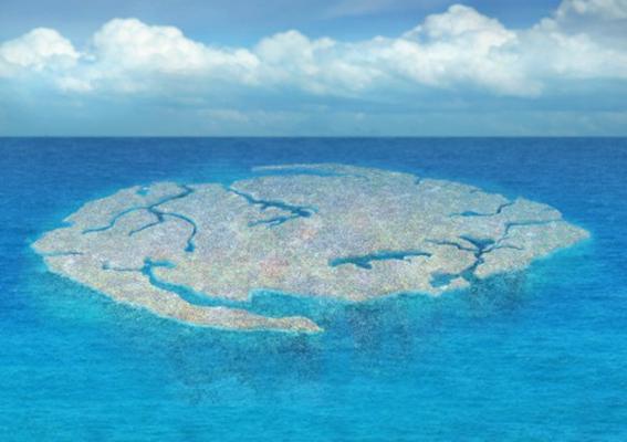 Immaginate un'isola. Di Plastica